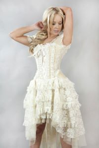 Cream Taffeta Ophelie Dress